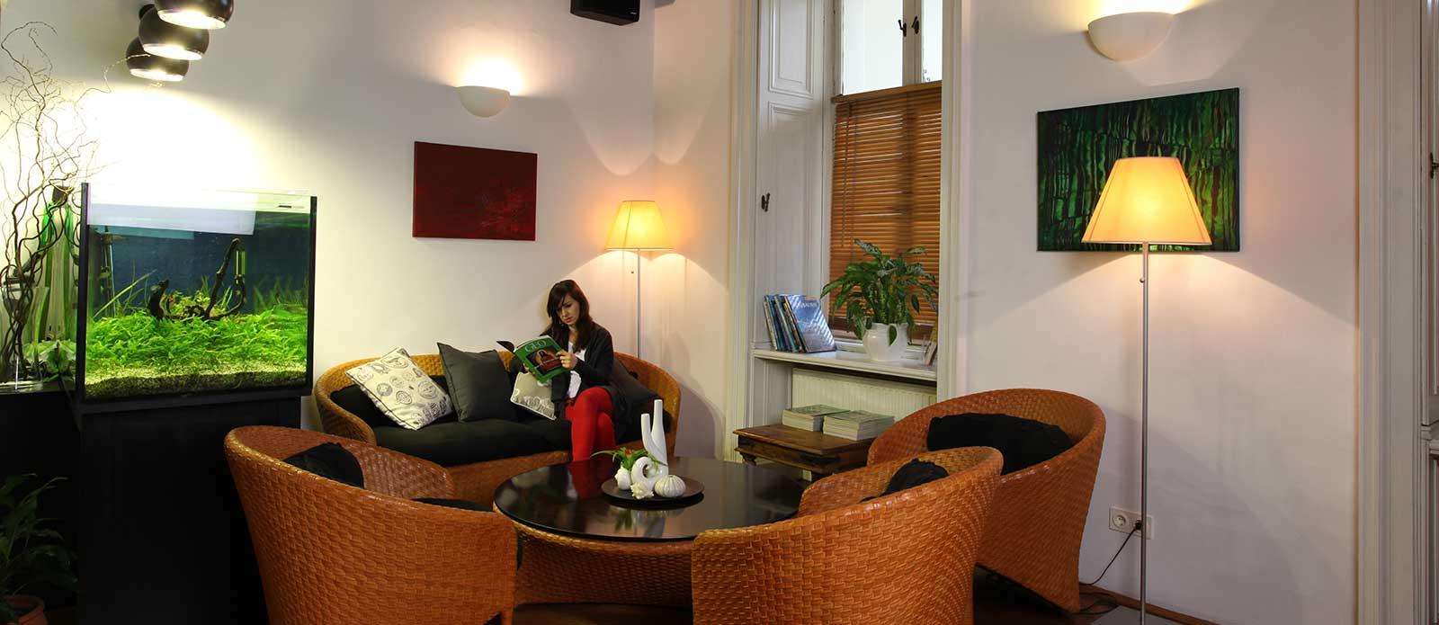 Ambiente Wartezimmer Zahnarzt Wien