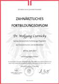 Zahnärztliches Fortbildungsdiplom - Wien